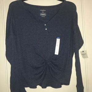 Ribbed Knit Long Sleeve Crop Top NWT Size XXL
